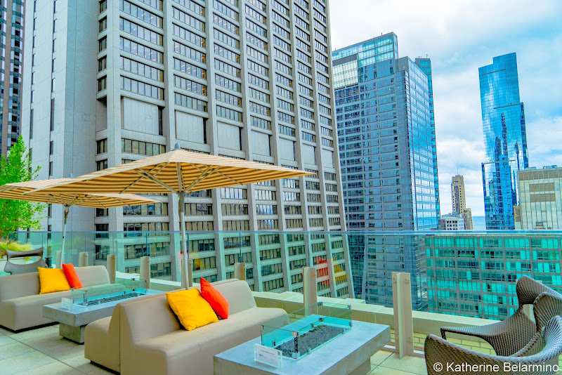Hyatt Centric the Loop Chicago Rooftop Bar Girls' Weekend in Chicago