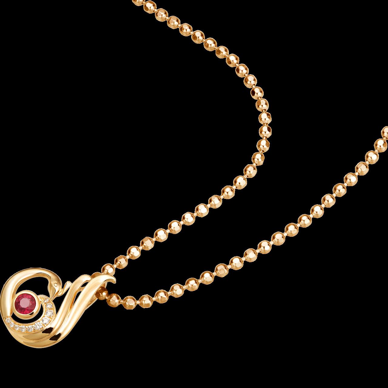 Mặt dây chuyền Vàng 18K đính đá Ruby PNJ Phượng Hoàng RBXMY000187