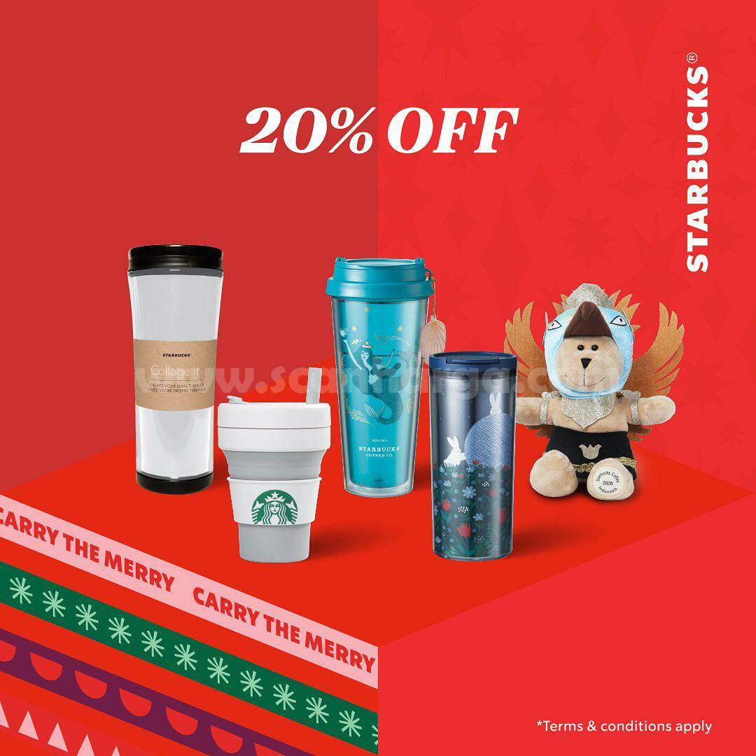 Promo Starbucks Merchandise Sale – Diskon hingga 50% untuk Koleksi Tumbler Official*
