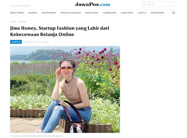 Jims Honey, Startup Fashion yang Lahir dari Kekecewaan Belanja Online
