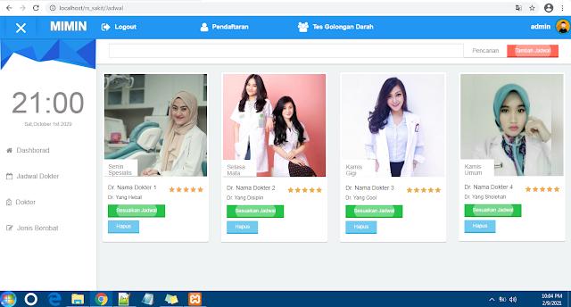 Source Code Aplikasi Pendaftaran Pasien