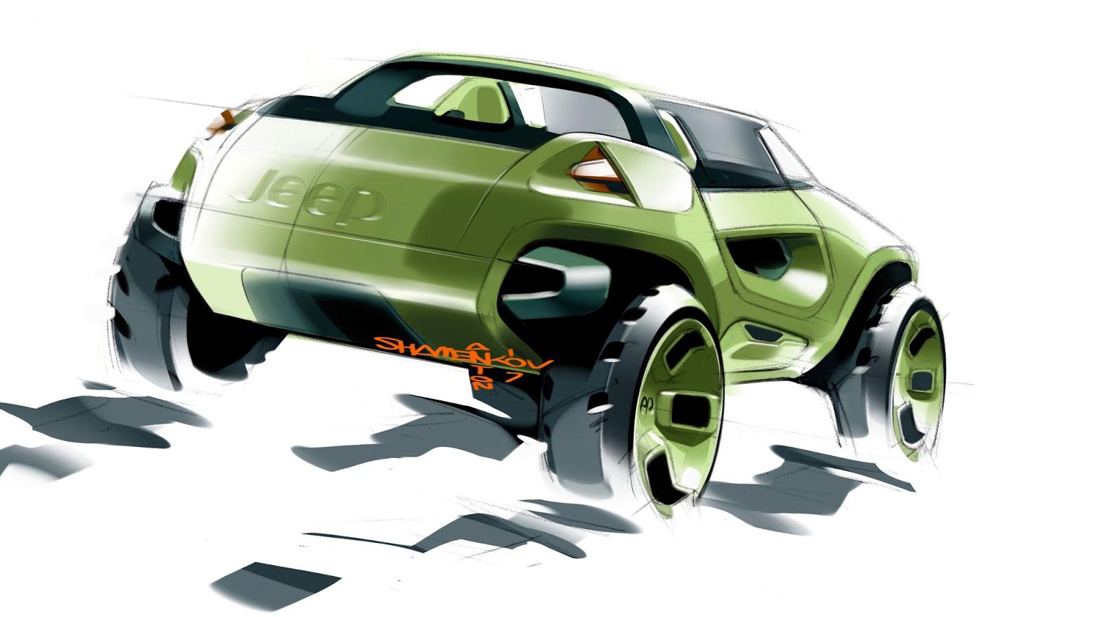 Jeep Renegade Concept 2008 - sketch by Anton Shamenkov