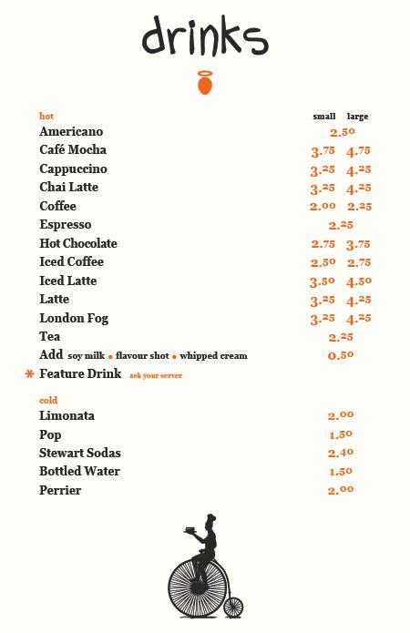 pastry peddler café: MENUS & CATERING