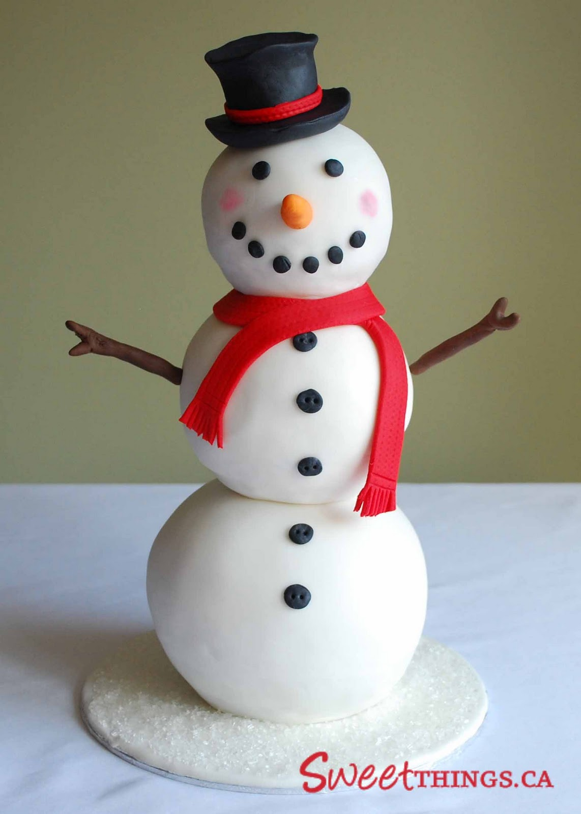 Sweetthings Snowman Cake