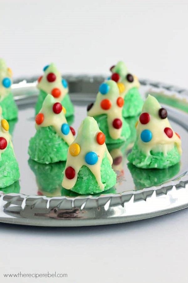 no bake Christmas tree cookies