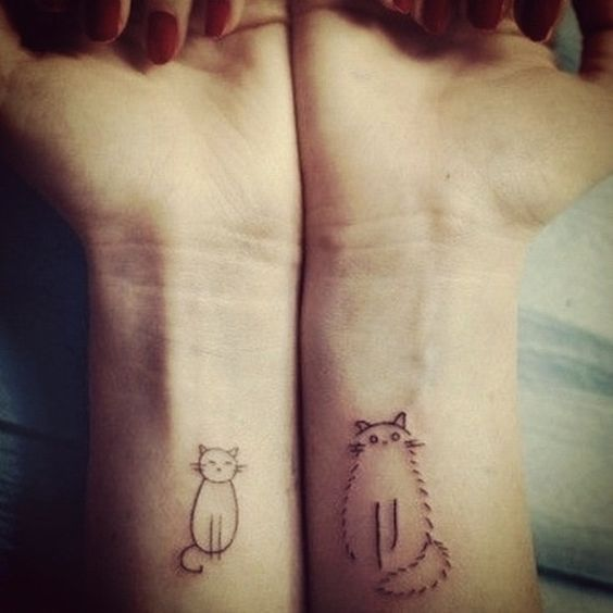 Cute Cat Tattoos for Couple