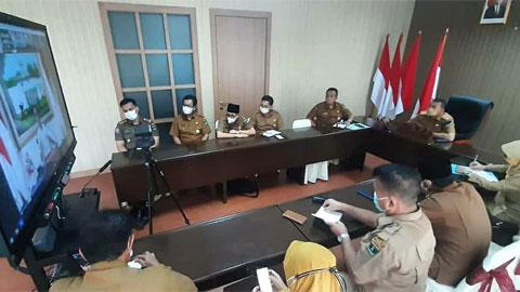 video conference dengan Presiden RI Joko Widodo