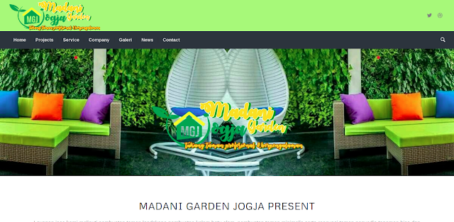 Tampak website Madani Garden, foto: screenshots