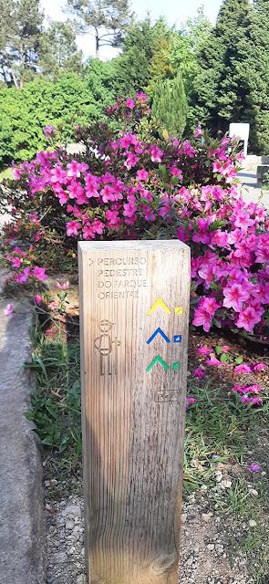 Sinalização dos percursos pedonais do Parque Oriental do Porto