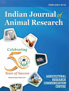 IJAR - Indian Journal of Animal Research