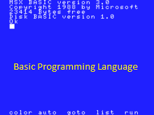 BASIC Programming Language Features Application Areas