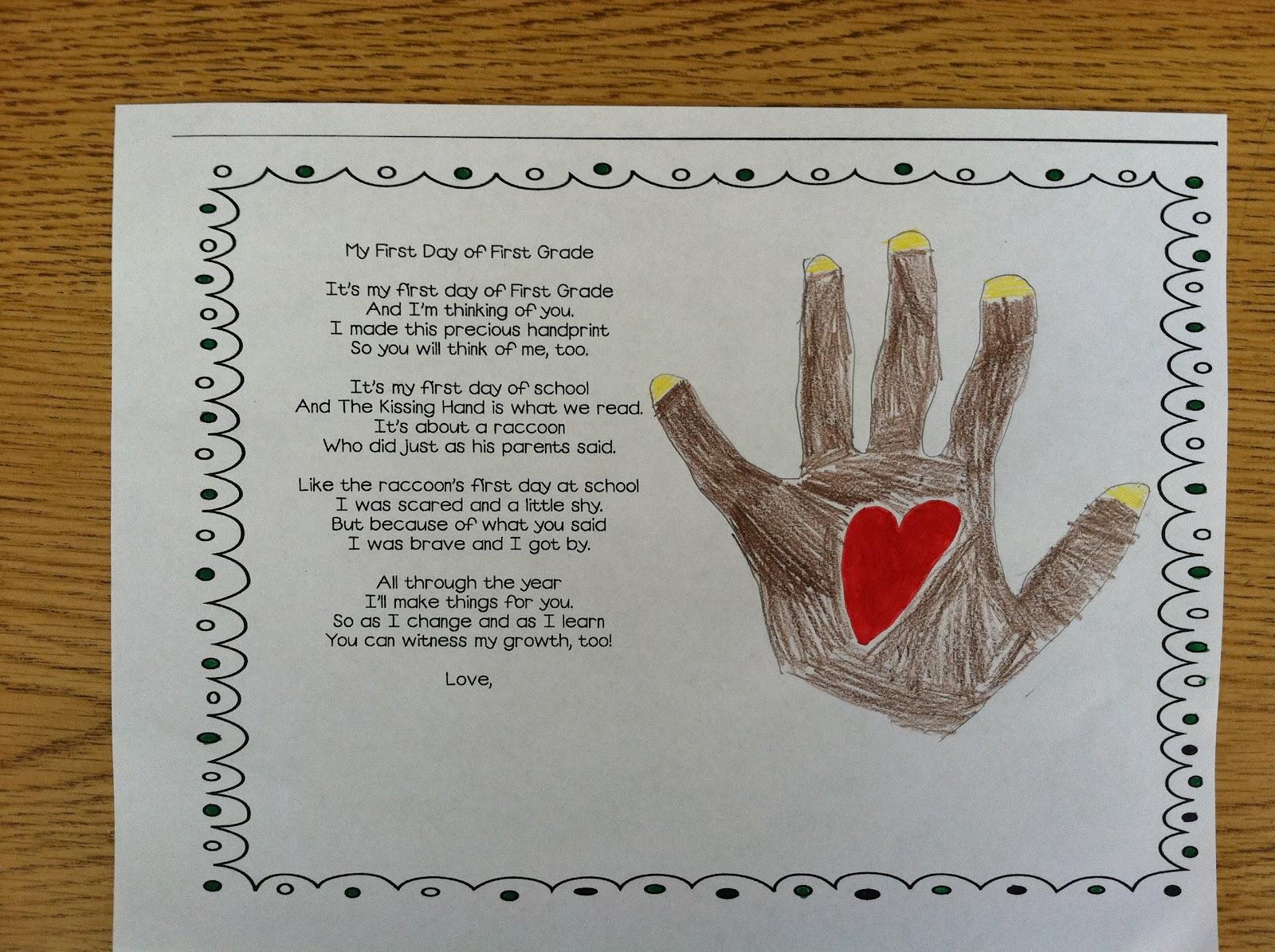 Mrs Brinkman S Blog The Kissing Hand
