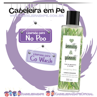 Condicionador Óleo de Melaleuca e Vetiver - Love, Beauty and Planet (No Poo)