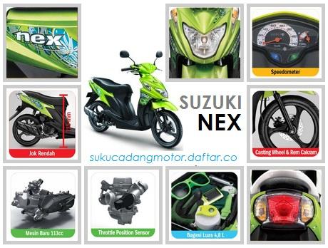 Daftar Harga Suku Cadang Suzuki Nex