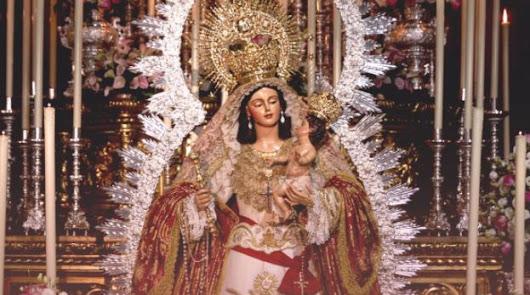 Horario e Itinerario Salida Procesional Virgen del Rosario. Almería 09 de Octubre del 2021