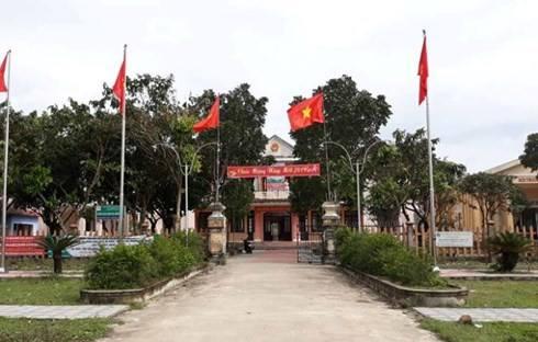 Trụ sở UBND xã Điền Lộc, nơi ông Trần Đình Dũng làm việc