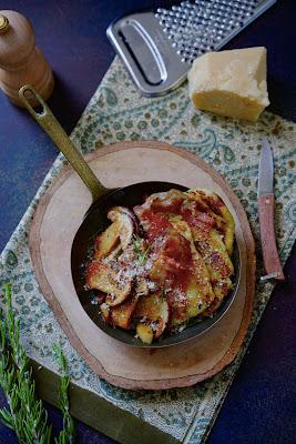 pommes de terre , diner en famille , cuisine facile , champignons