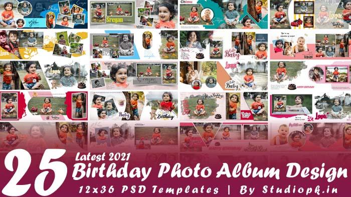 25 Latest Birthday Photo Album Design
