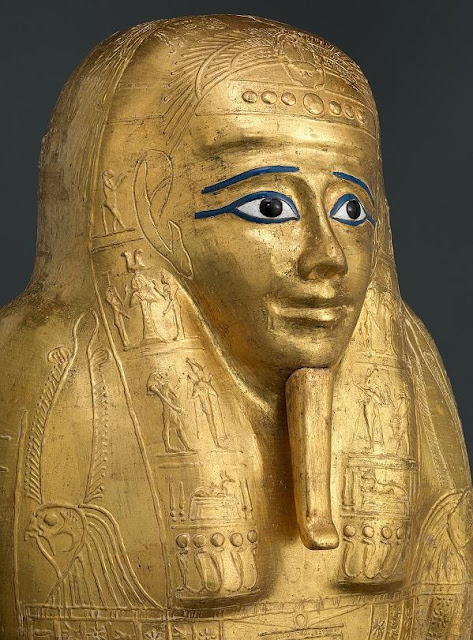 Ancient Egyptian&''Nedjemankh and his Gilded Coffin''featured in Met Fifth Avenue,NY,exhibition from July 20,2018..