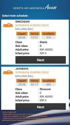Harga Tiket dan Jadwal KA Singosari Ekspres Surabaya Malang PP