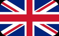 Rounded flag of the United Kingdom (UK)