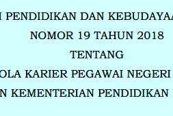 Permendikbud No 19 [Tahun] 2018 (Tentang) POLA KARIER PNS  di LINGKUNGAN Kemendikbud (KEMDIKBUD)