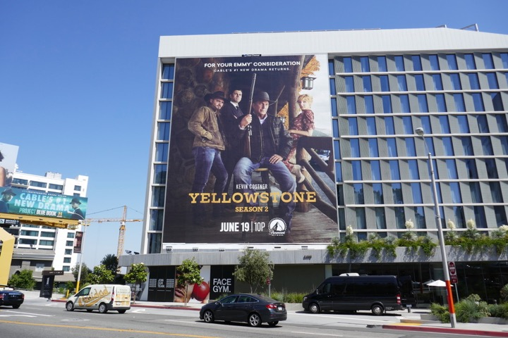 Giant Yellowstone season 2 billboard