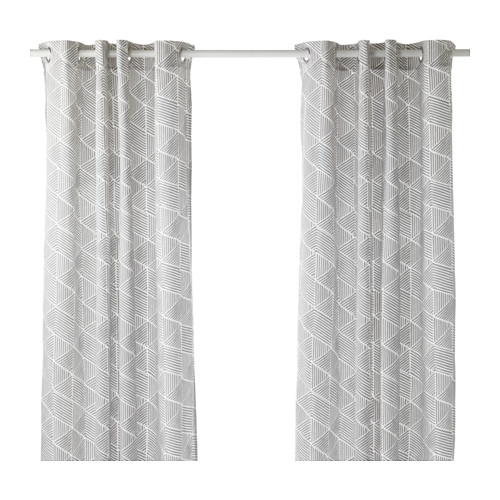 Drop Down Curtain The Dropcloth Curtains Dual Rod Brackets