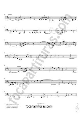 Hoja 2  Partitura de Meditación Tuba y Contrabajo Sheet Music for Contrabass y Tuba Music Score