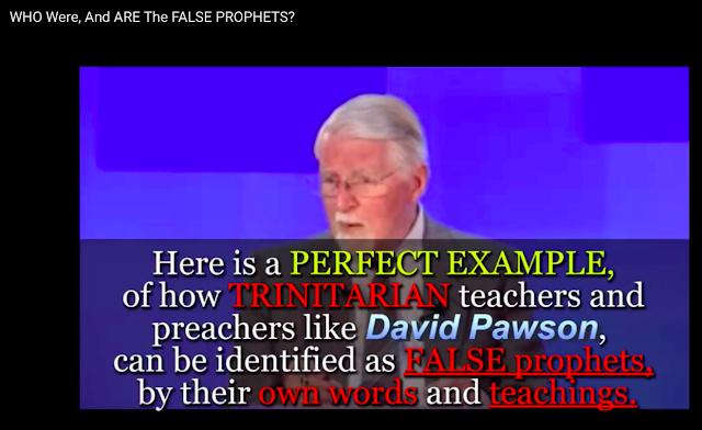 David Pawson identifies himself as a FALSE PROPHET.