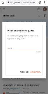 Cara Membuat Blog Pemula Gratis dari Hp