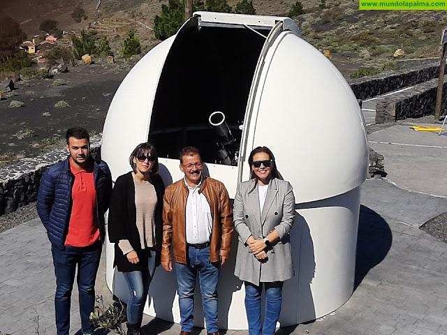 Fuencaliente pone en uso su Telescopio Solar coincidiendo con el tránsito de Mercurio
