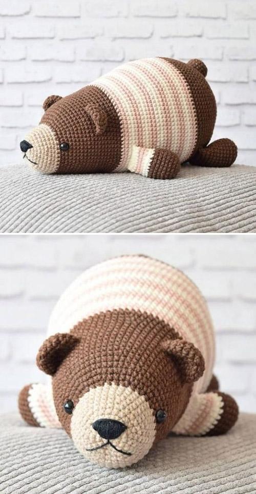 Lying Bear - Free Pattern