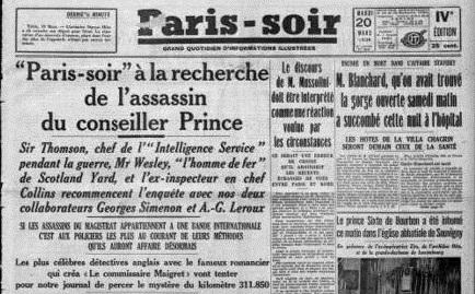 Simenon Simenon: SIMENON SIMENON. PARIS-SOIR: QUAND GEORGES SIM DEVIENT  SIMENON