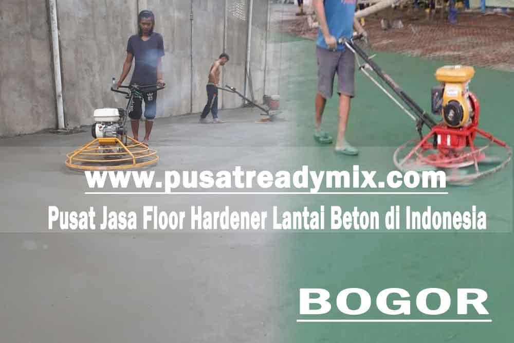 Harga jasa floor hardener lantai beton Bogor 2020