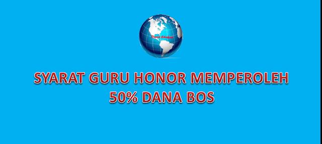 SYARAT GURU HONOR DAPAT GAJI BOS