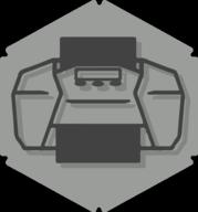 print hexagon icon