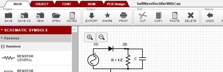 Scheme-it - Ferramenta online para criar esquemas e diagramas de circuitos eletrônicos.