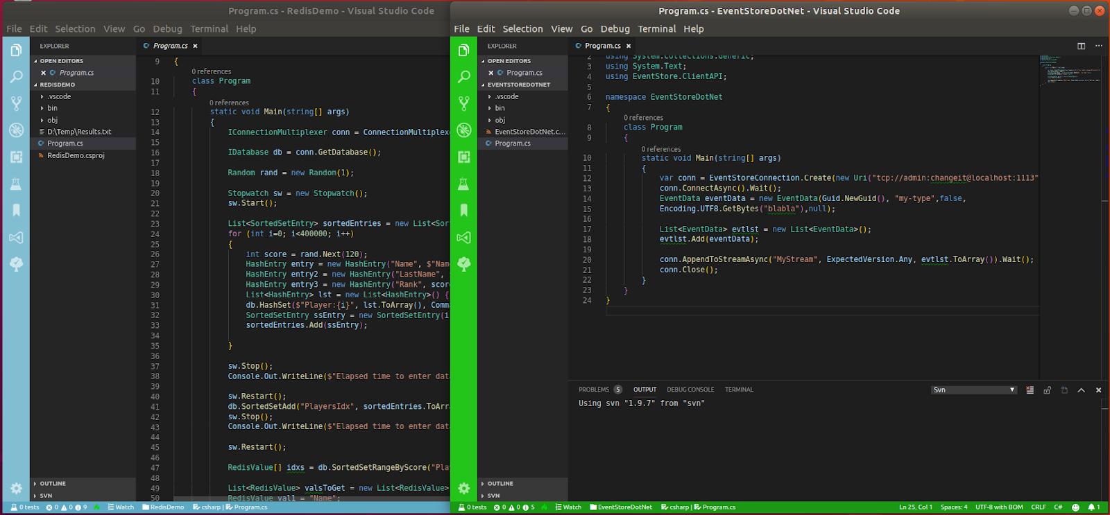 Visual Studio Code setup I use for C# development