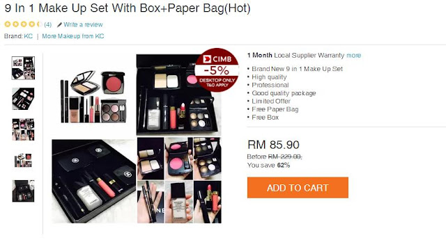 9 in 1 make up set