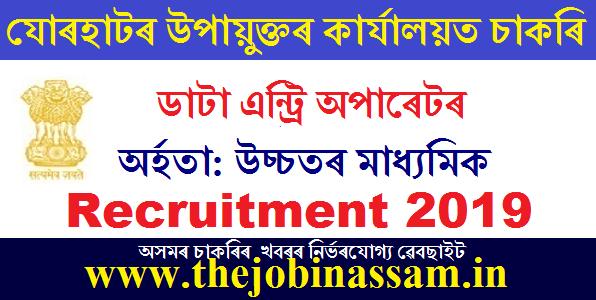 DC Office Jorhat recruitment 2019: 05 Data Entry Operator [Walk-in-interview]