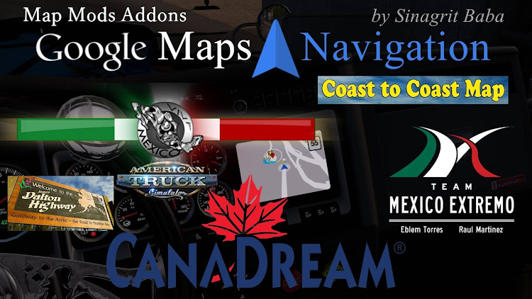 cover ats google maps navigation normal & night version map mods addons