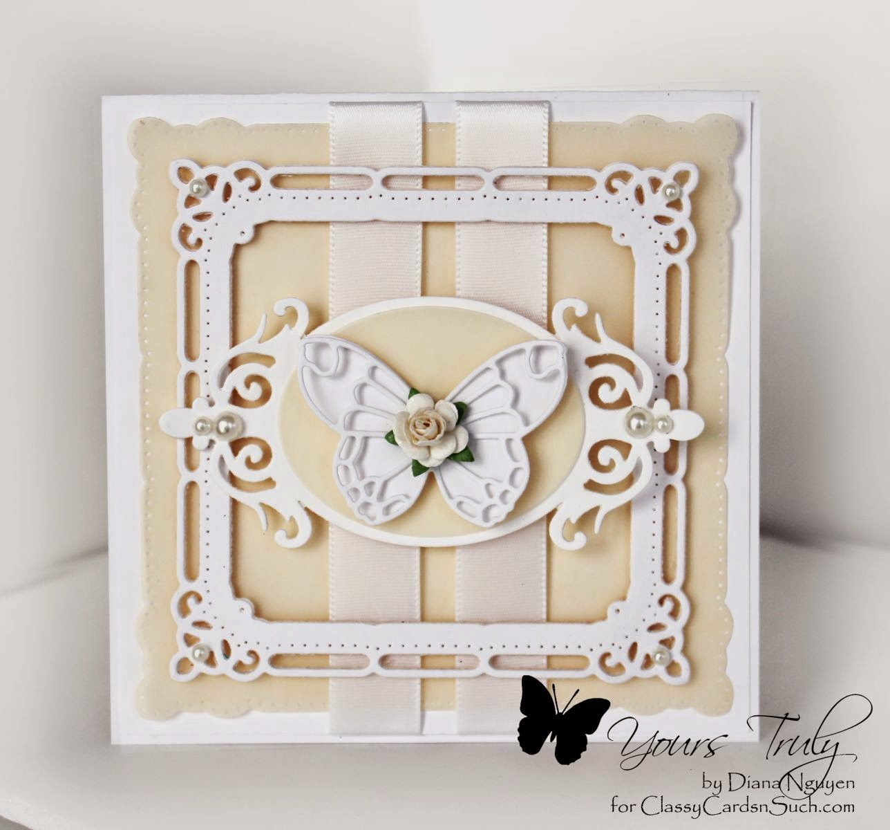 Diana Nguyen, butterfly, majestic squares, neutral, card