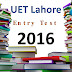 [pdf] UET lahore Entry Test Past Paper year 2016 free Download