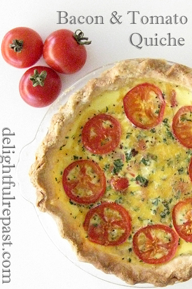 Bacon and Tomato Quiche for Two - Buttermilk Pastry / www.delightfulrepast.com