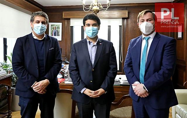 Alejandro Santana, Sebastián Cruzat y Claudio Darrigrandi