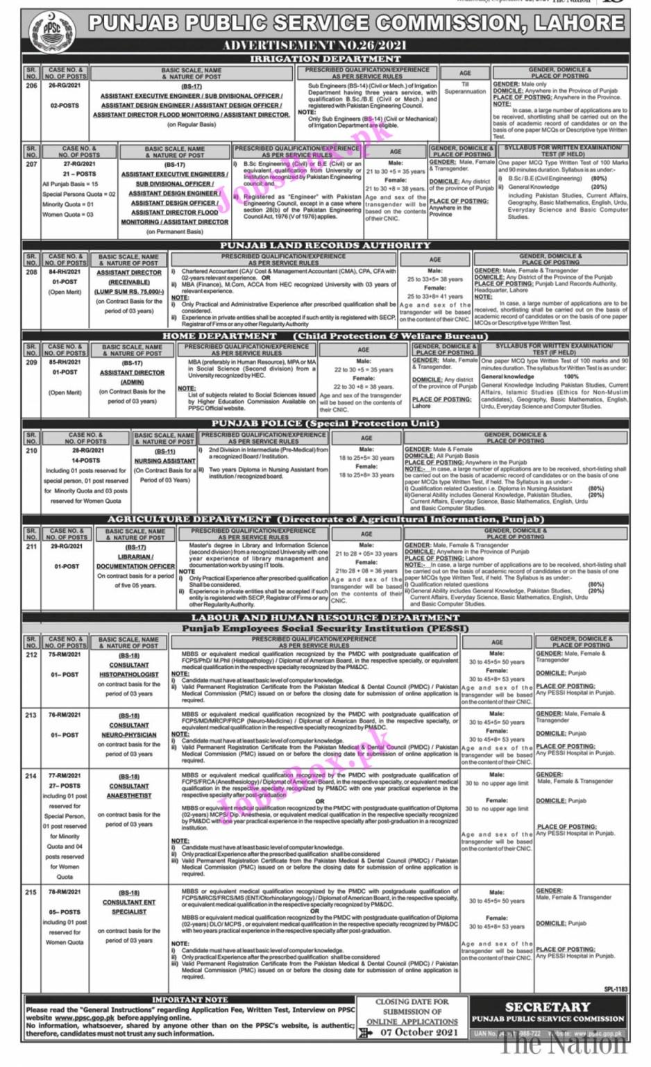 PPSC Jobs 2021 || PPSC Jobs 2021 Online Application Form || www.PPSC.Com