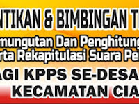 Download Contoh Spanduk Bimtek dan Pelantikan KPPS Pemilu 2019 Format CDR