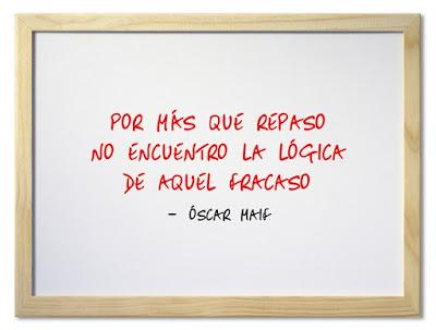 Ñaiku, haiku hispano,  poesía, poema, verso, rima consonante: Por más que repaso no encuentro la lógica de aquel fracaso. Óscar Maif