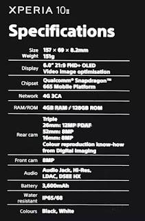 سوني ترجع بقوة للساحة، تسريب المواصفات الكاملة لهاتفي Sony Xperia 1 II, 10 II